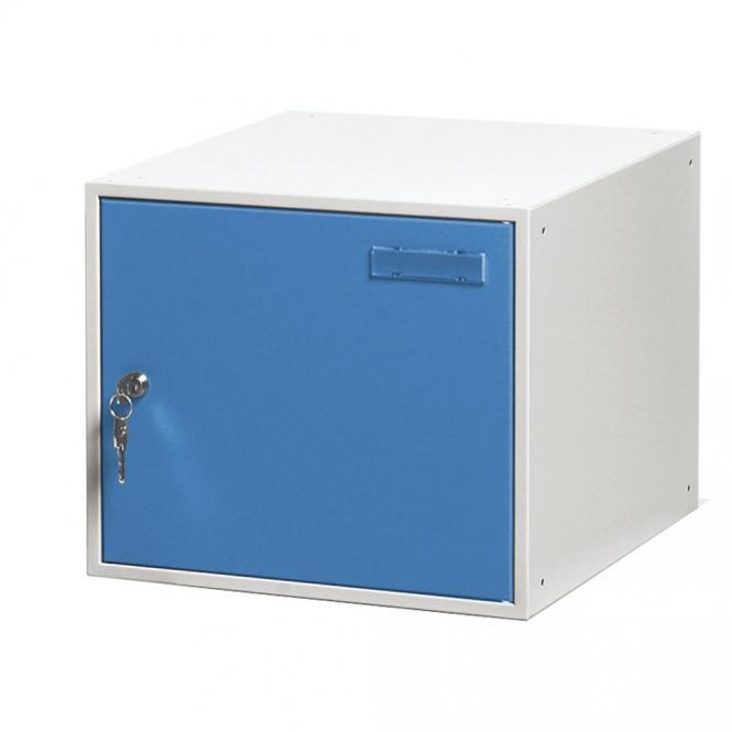Schließfachwürfel SYSTEM SP Himmelblau RAL 5015 | B 300 x H 300 x T 450 mm