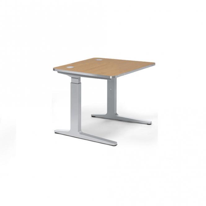 Schreibtisch Rechteck PROFI Bicolour Nussdekor hell | 800 | Quadrat