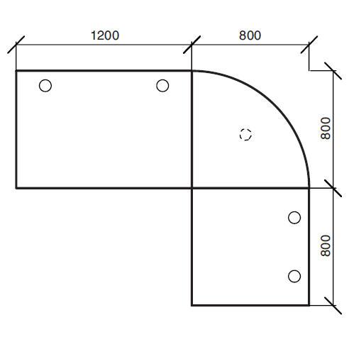 Winkelkombination Comfort 2.0 MULTI MODUL Ahorndekor | 2000 | 1600 | Alusilber RAL 9006 | Winkelkombination rund