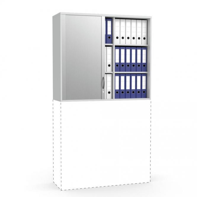 Rollladen-Aufsatzschrank MULTI MODUL Lichtgrau   1055 mm (3 OH)