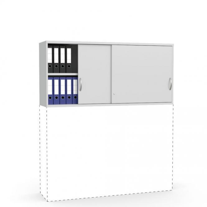 Schiebetüren-Aufsatzschrank PROFI MODUL Lichtgrau | 1600 | 750 mm (2 OH)