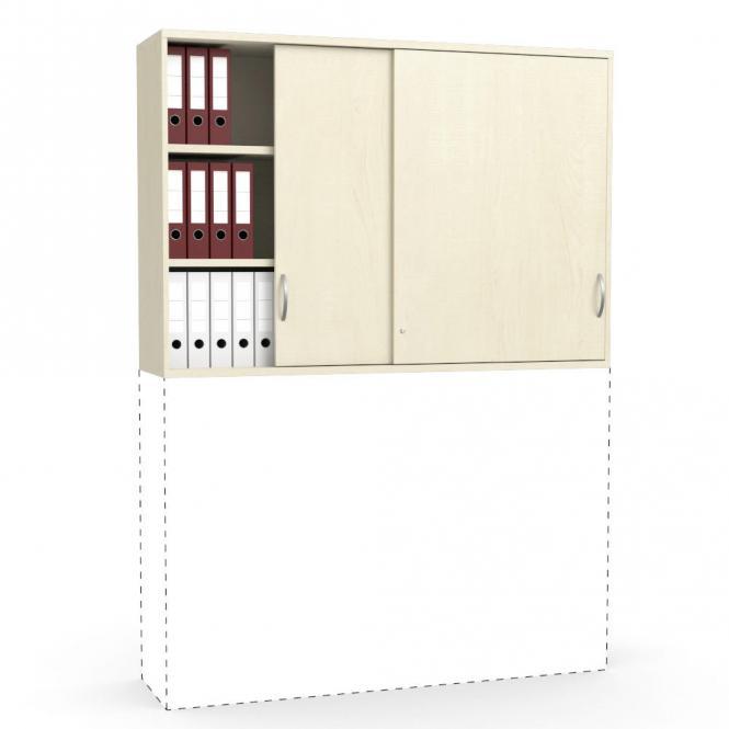 Schiebetüren-Aufsatzschrank PROFI MODUL Ahorndekor   1600   1110 mm (3 OH)
