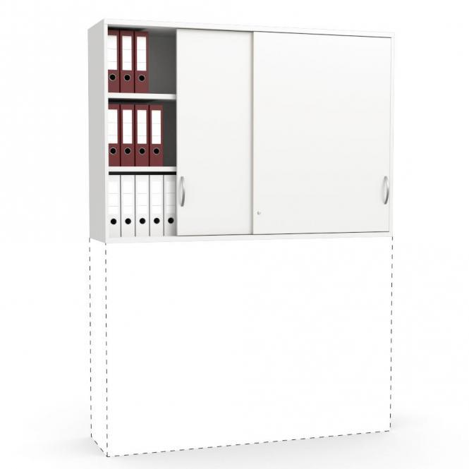 Schiebetüren-Aufsatzschrank PROFI MODUL Weiß | 1600 | 1110 mm (3 OH)