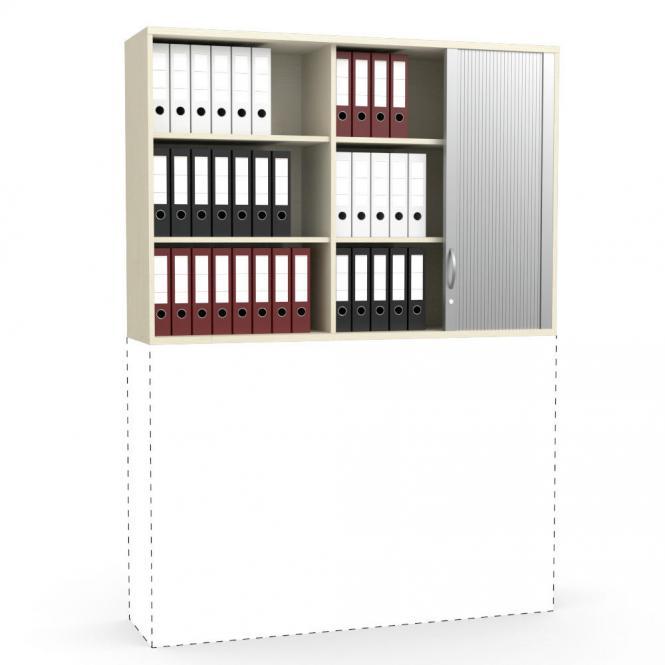 Rollladen-Aufsatzschrank PROFI MODUL Ahorndekor   1600   1110 mm (3 OH)