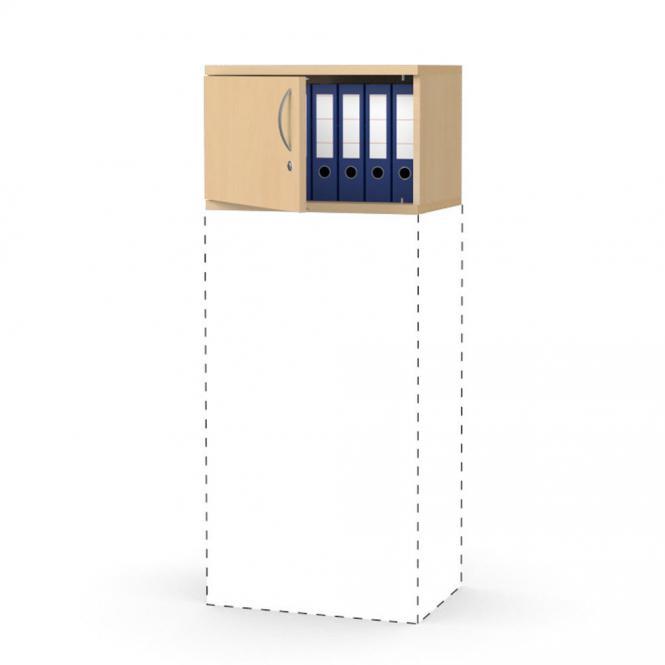 Flügeltüren-Aufsatzschrank PROFI MODUL Buchedekor | 600 | Türanschlag links | 390 mm (1 OH)