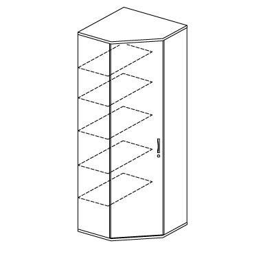 Eckschrank PROFI MODUL Ahorndekor | 2250 mm (6 OH)