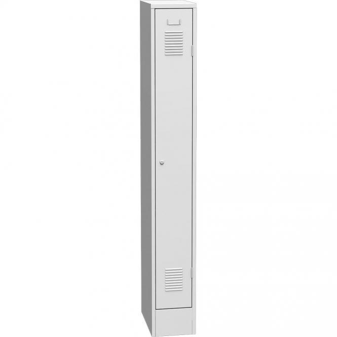 Garderoben-Stahlspind Delta PROTECT Lichtgrau RAL 7035 | 250 | 1 | Zylinderschloss