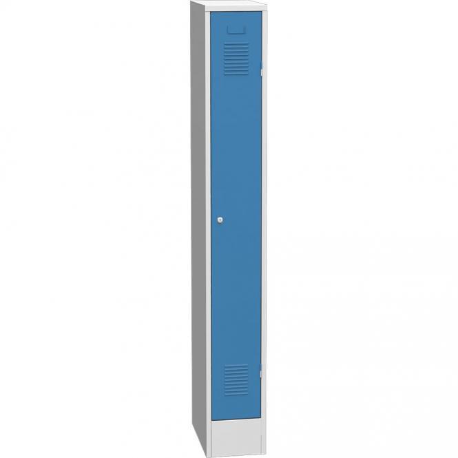 Garderoben-Stahlspind Delta PROTECT Lichtblau RAL 5012 | 250 | 1 | Zylinderschloss