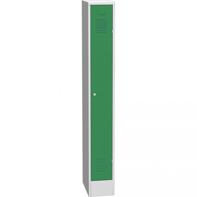 Garderoben-Stahlspind Delta PROTECT Verkehrsgrün RAL 6024 | 250 | 1 | Zylinderschloss