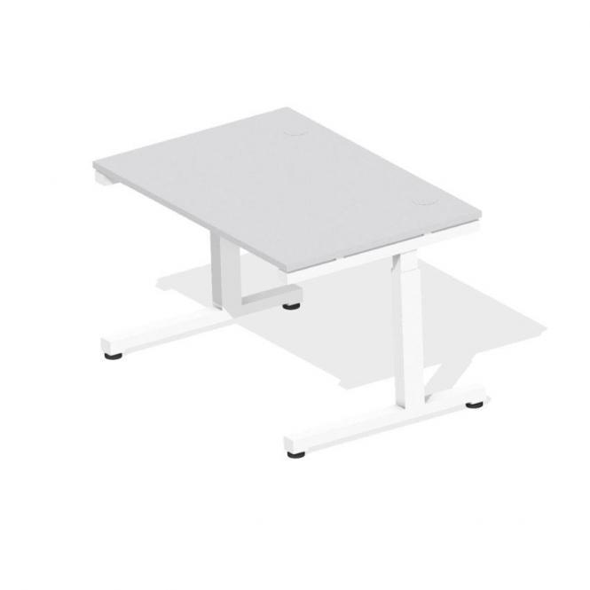 Schreibtisch Comfort 2.0 MULTI MODUL Lichtgrau | 1200 | Weiß RAL 9016