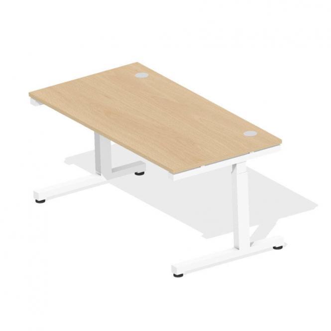 Schreibtisch Comfort 2.0 MULTI MODUL Buchedekor | 1600 | Weiß RAL 9016