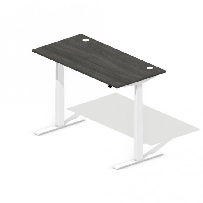 Sitz-/Stehschreibtisch BOSSINO Eiche dunkel | 1600