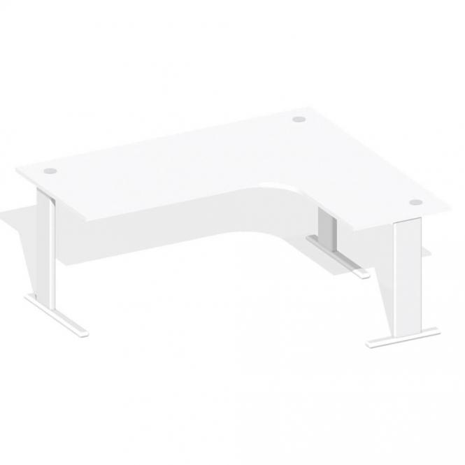 XXL Schreibtisch Jumboform Basic M MULTI MODUL Weiß | Weiß RAL 9010 | Jumbo Freiform rechtsseitig
