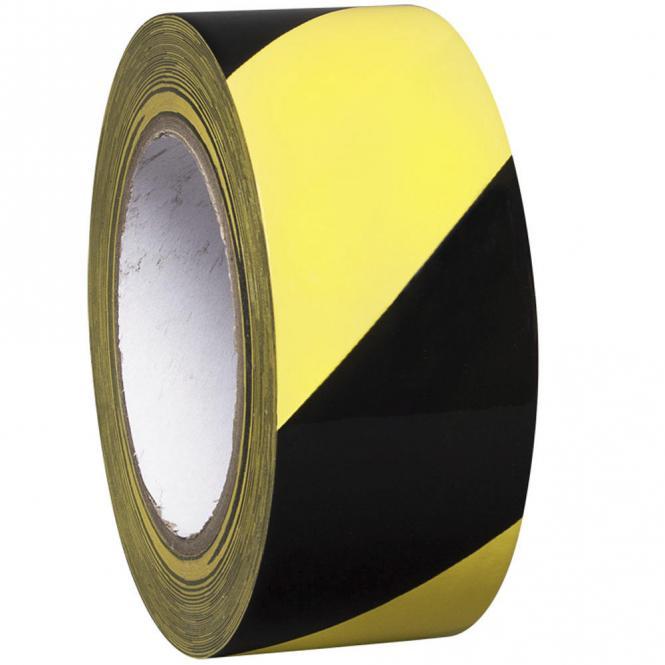 Selbstklebendes Bodenmarkierband PROline Schwarz-Gelb | 50