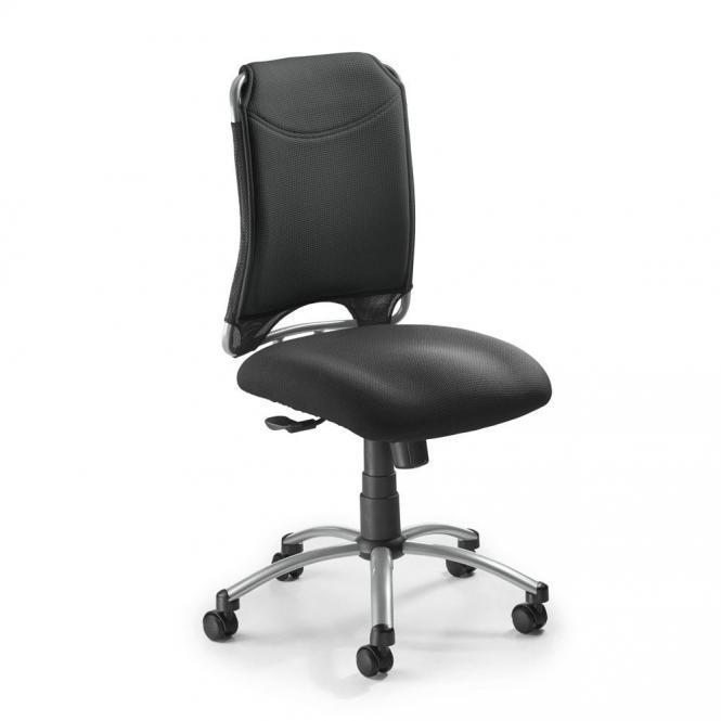 Bürodrehstuhl NUBA ohne Armlehnen Schwarz