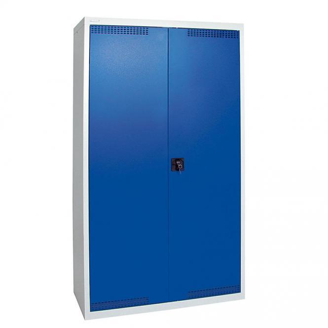 Umweltschrank mit Türlochung zur Belüftung P4 Enzianblau RAL 5010 | 1800 | 1000 | 4 Wannen | Drehriegelverschluss