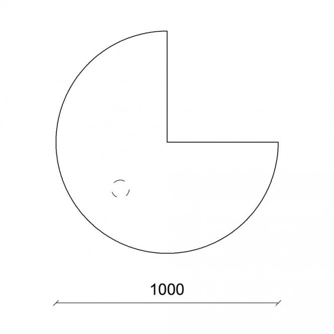 Anbauplatten 3/4 Kreis für Basic-Tische