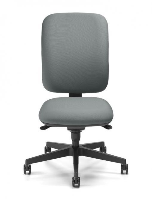 Bürodrehstuhl COMPITO ohne Armlehnen Grau | Polyamid schwarz