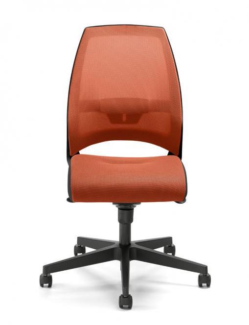 Bürodrehstuhl CONTRADA ohne Armlehnen Orange   Polyamid schwarz