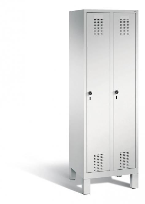 Garderoben-Stahlspind SERIE EVOLO mit Füßen Lichtgrau RAL 7035 | Lichtgrau RAL 7035 | 300 | 2