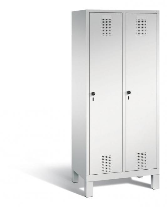 Garderoben-Stahlspind SERIE EVOLO mit Füßen Lichtgrau RAL 7035 | Lichtgrau RAL 7035 | 400 | 2