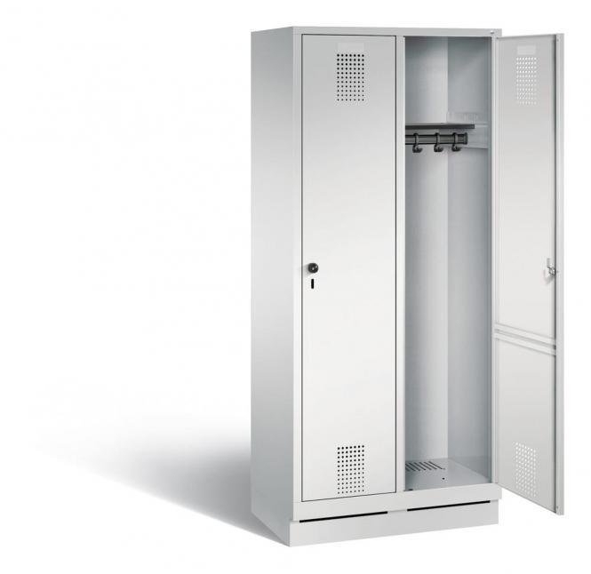 Garderoben-Stahlspinde Serie EVOLO mit Sockel