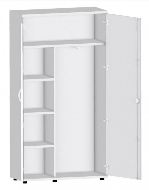 Garderobenschrank PROFI MODUL Lichtgrau | 1000 | 1890 mm (5 OH)