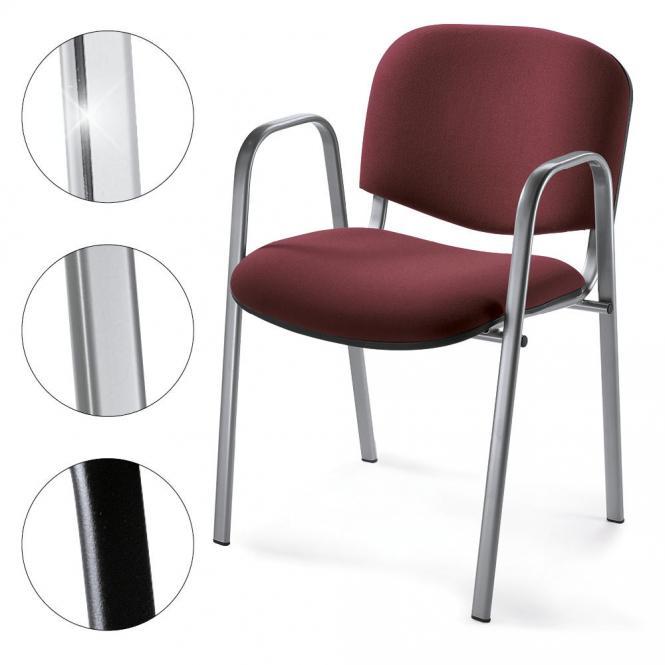 Besucherstuhl ISO mit Armlehnen, 3 Gestellfarben