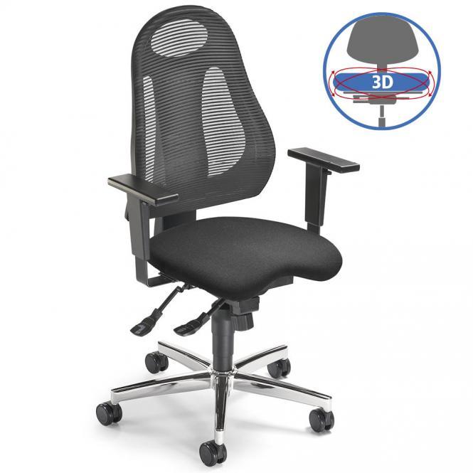 Bürodrehstuhl SITNESS 65 NET - bewegliche Sitzfläche