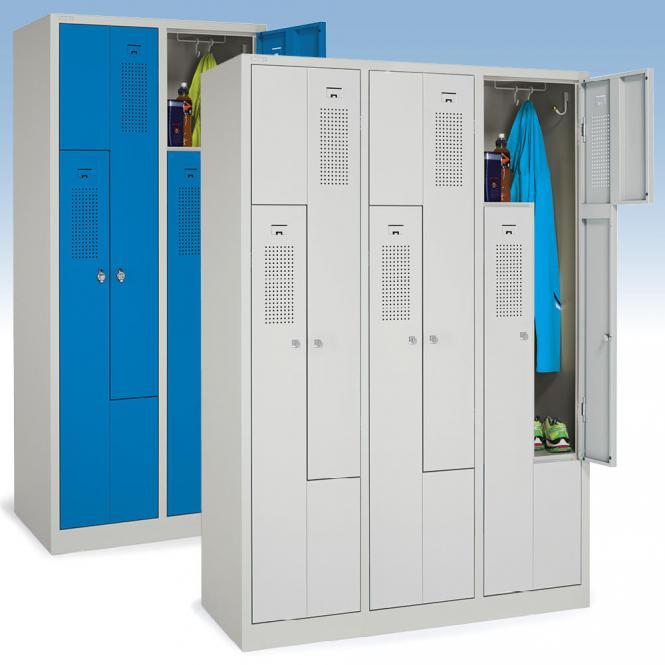 Z-Garderoben-Stahlspinde mit Lüftungslöchern