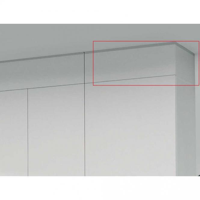 Deckenabschlussblende PROFI MODUL Schrankwand Weiß | 400 | 996 | Deckenabschlussblende