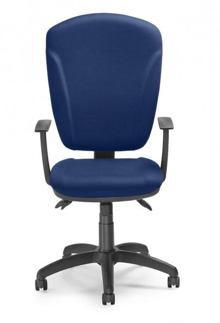 Bürodrehstuhl QUINTO ohne Armlehnen Blau