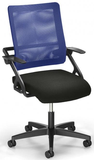 Bürodrehstuhl SITNESS 60-3D NET mit Armlehnen Blau/Schwarz