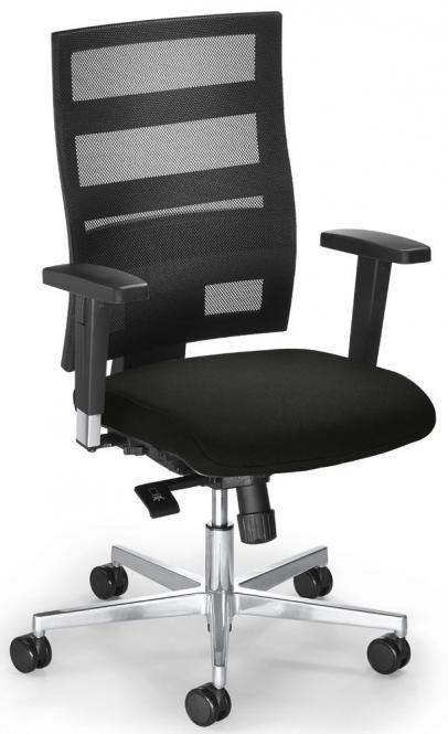 Bürodrehstuhl SITNESS 90 mit Armlehnen Schwarz/Schwarz