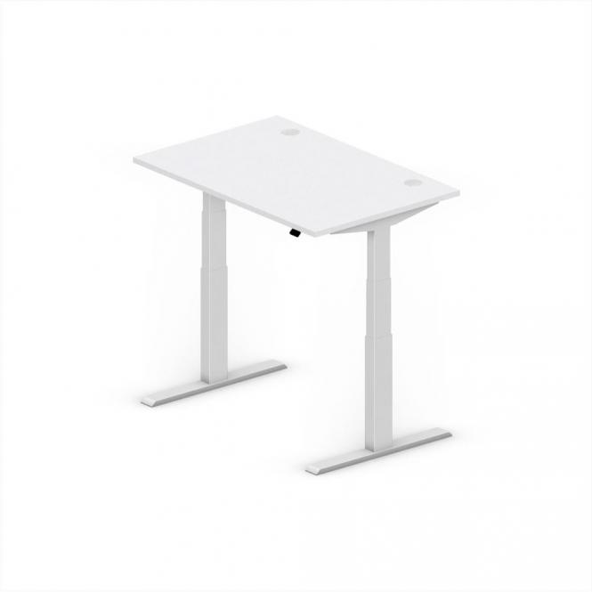 Sitz-/Stehschreibtisch Comfort EVO Lichtgrau | 1200 | Alusilber RAL 9006