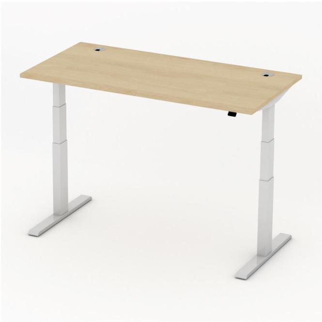 Sitz-/Stehtisch Comfort PROFI MODUL Buchedekor   1600   Alusilber RAL 9006
