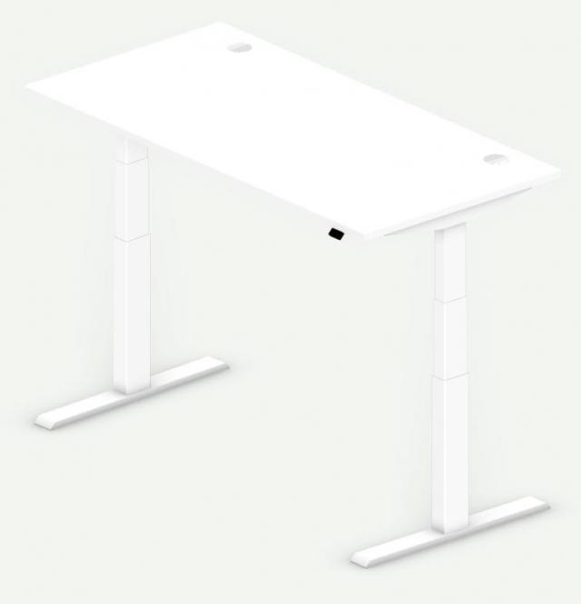 Sitz-/Stehtisch Comfort PROFI MODUL Weiß | 1600 | Weiß RAL 9016