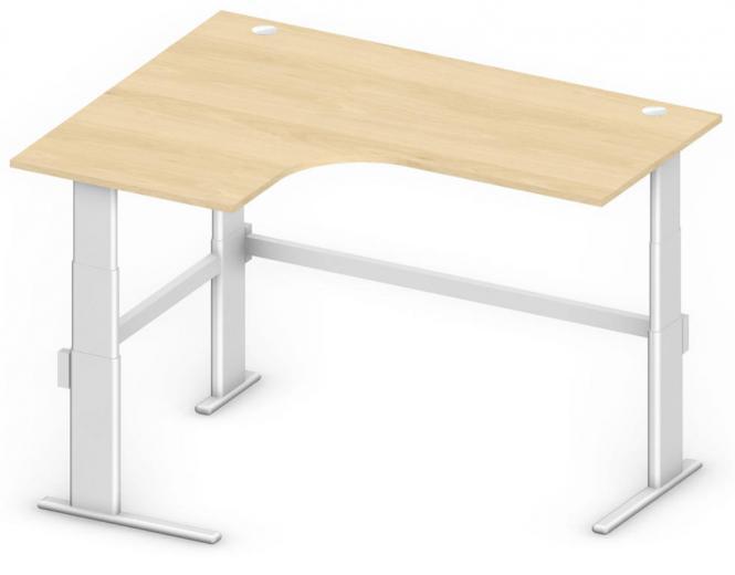 Sitz-/Stehtisch Jumboform Comfort MULTI MODUL Buchedekor | Jumbo Freiform linksseitig