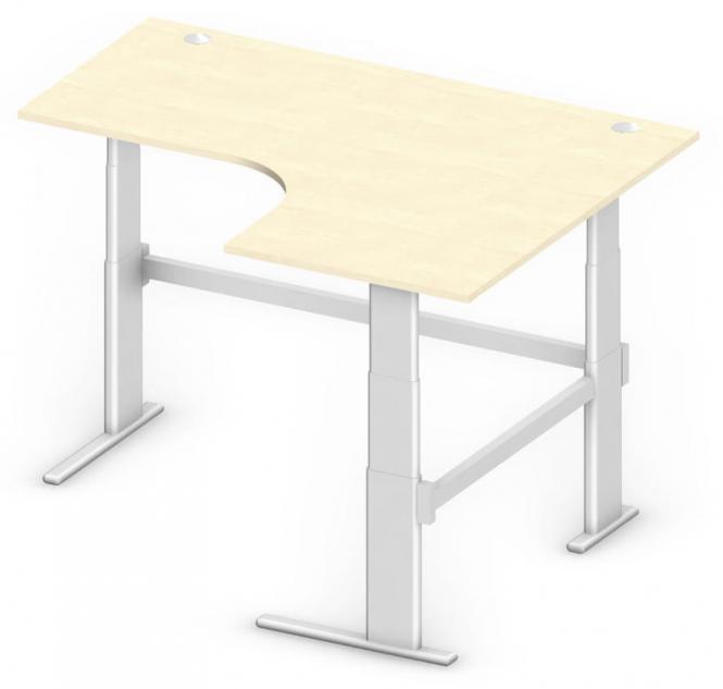 Sitz-/Stehtisch Jumboform Comfort MULTI MODUL Ahorndekor | Jumbo Freiform rechtsseitig