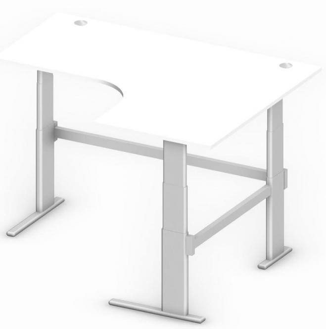 Sitz-/Stehtisch Jumboform Comfort MULTI MODUL Weiß | Jumbo Freiform rechtsseitig