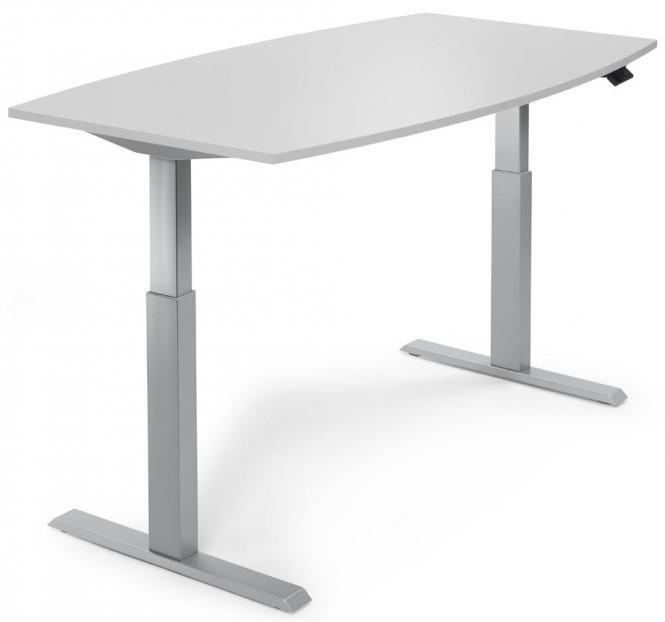 Sitz-/ Stehbesprechungstisch, höhenverstellbar Lichtgrau | 2000