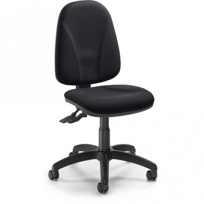 Bürodrehstuhl ABETO ohne Armlehnen Schwarz