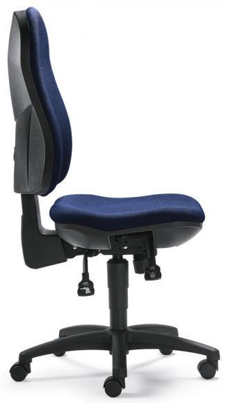 Bürodrehstuhl COMFORT I ohne Armlehnen Dunkelblau   ohne Armlehnen (optional)   Polyamid schwarz