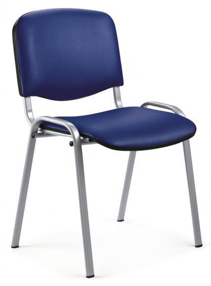 8 Besucherstühle ISO - Kunstleder, 2 Gestellfarben