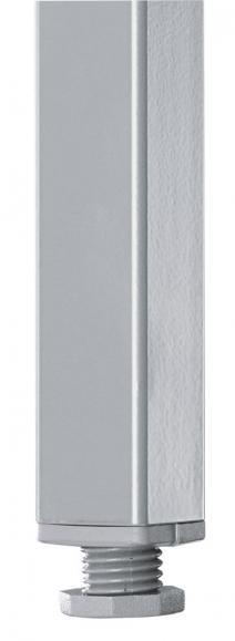 Konferenztisch BASE-MODUL Weiß | 800 | 700 | Alusilber RAL 9006 | Rechteck | 19