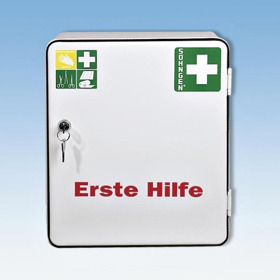 Verbandschrank HEIDELBERG verschließbar. Nach DIN 13157