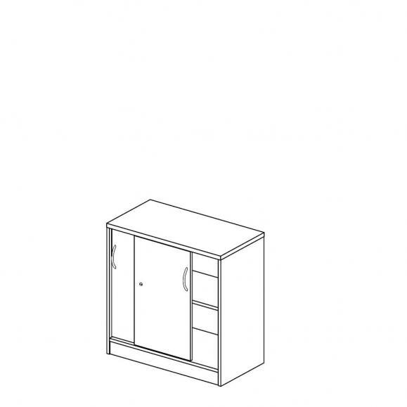 Schiebetürenschrank MULTI MODUL Ahorndekor | 800 | ohne Garderobe | 805 mm (2 OH)