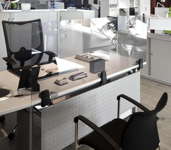 Hygieneschutzscheibe für Schreibtische aus Acrylglas