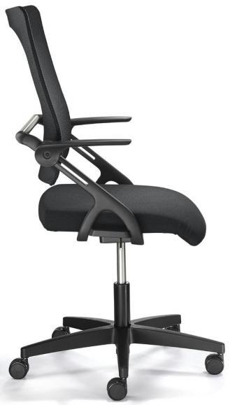 Bürodrehstuhl SITNESS 60-3D NET mit Armlehnen Schwarz/Schwarz