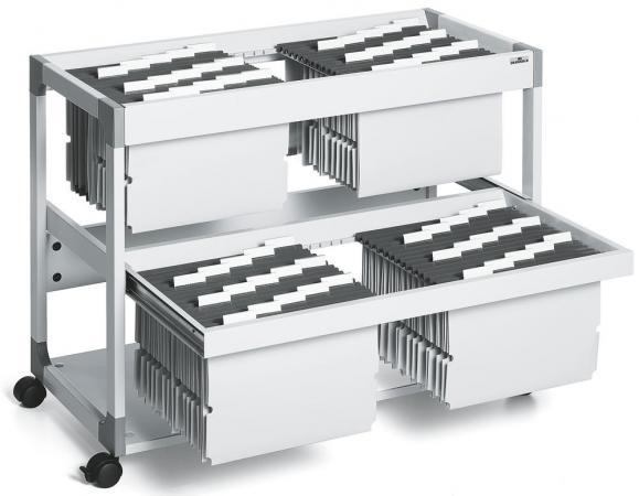 Hängemappenwagen zweibahnig - für bis zu 200 Mappen